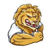 Lion mascot, team logo — Stock Vector