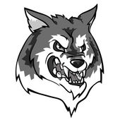 Angry Wolf mascot. — Stock Vector