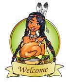 Thanksgiving day logo — Vecteur