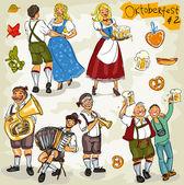 Oktoberfest collection — Stock Vector