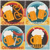 Oktoberfest backgrounds, set. — Stock Vector