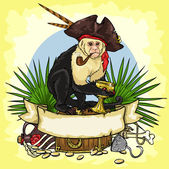 Pirate's Treasure logo — Stock Vector