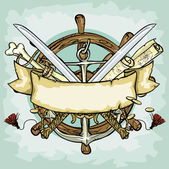 Pirate logo design — Stock Vector