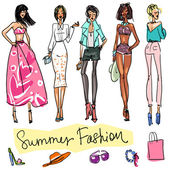 Summer Fashion — Vector de stock
