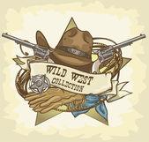 Wild West design — Stock Vector