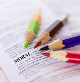 Text the word MORAL  — Stock Photo