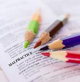 Text the word MALPRACTICE  — Stock Photo