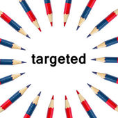 Target Text in Colour pencils — Stock Photo