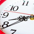 The clock and timestamp numbers — Stock Photo