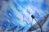 Satellite dish transmission data — Foto de Stock