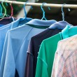 T-shirts with different colors and see which stitch and seam — Stock Photo #48097141