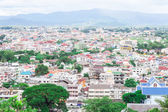 Looking from a high building to Burma — Stockfoto