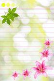 Vintage elegant background with flowers — Stock Photo
