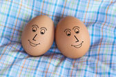 Sweet couple egg — Stockfoto