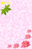 Rose elegant background with flowers — Stock Photo