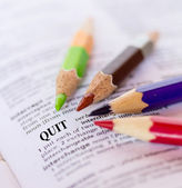 The word QUIT — Stock Photo