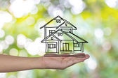 Real estate, technology and accomodation concept - picture of ho — Stock Photo
