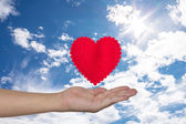 Gift of heart — Stock Photo