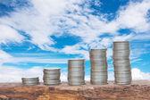 硬貨のお金 — ストック写真