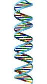 DNA helix isolated — Stock Photo