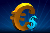 Major Euro minor Dollar — Stock Photo