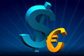 Major Dollar minor Euro — Stock Photo