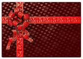 Rendered red gift box — Stock Photo