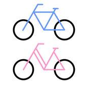 自行车符号 — 图库照片