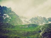 Retro look Cervinia Aosta Valley — Stock Photo
