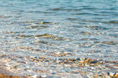 Crystal clear sea water. Beach in Greece — Stock Photo