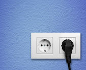 Electric outlet on a wall — Stock Photo