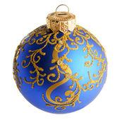 Christmas ball over white background — Foto de Stock
