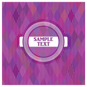 Vector label on a purple background — Stock Vector