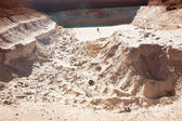People in sand quarry — Stock Photo