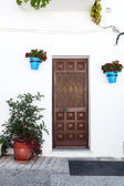 Gate in Andalusian white villages in Spain — Stock Photo