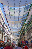 Days of celebration and party in Malaga Andalusia Spain — Stock Photo