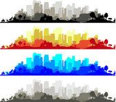 City Edge — Stock Vector