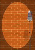 Stand Up Night Wall. — Stock Vector