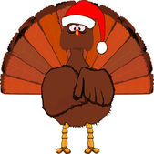 Another Christmas Turkey. — Stock Vector
