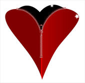 Zipper Heart — Stock Vector