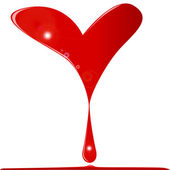 Cuore sanguinante — Vettoriale Stock
