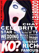 Capa de revista de celebridades — Vetor de Stock
