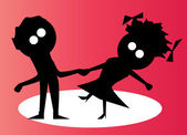 çift dans — Stok Vektör