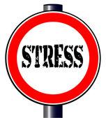 Stress Traffic Sign — Stock Vector