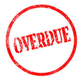 Overdue — Stock Vector