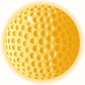 Gold Golf Ball — Stock Vector