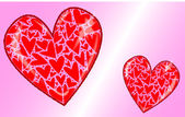 две любящие сердца — Cтоковый вектор