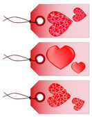 Valentine Tags — Stock Vector