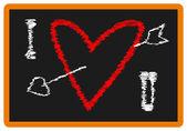 Valentijn schoolbord — Stockvector