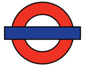 London Underground Blank — Stock Vector